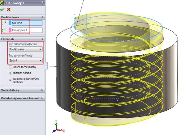 14-SolidWorks-nut-matice-návod-tutorial-postup