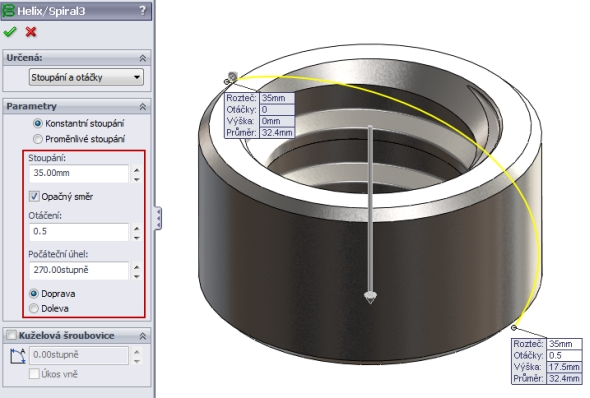 21-SolidWorks-nut-matice-návod-tutorial-postup