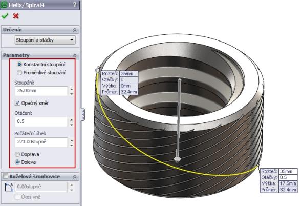 31-SolidWorks-nut-matice-návod-tutorial-postup