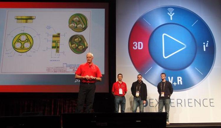 Radoslav Zavřel (druhý zprava) ze Schier Technik Slovakia se na konferenci SolidWorks World 2014 probojoval na druhé místo v soutěži 3D modelování v SolidWorksu. Foto: Jan Homola, Konstruktér