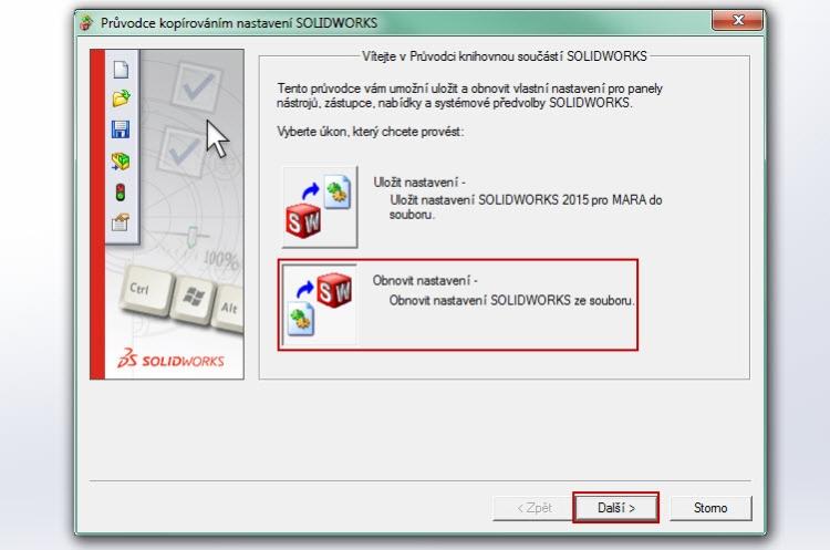5-SolidWorks-gesta-nastaveni-obnoveni