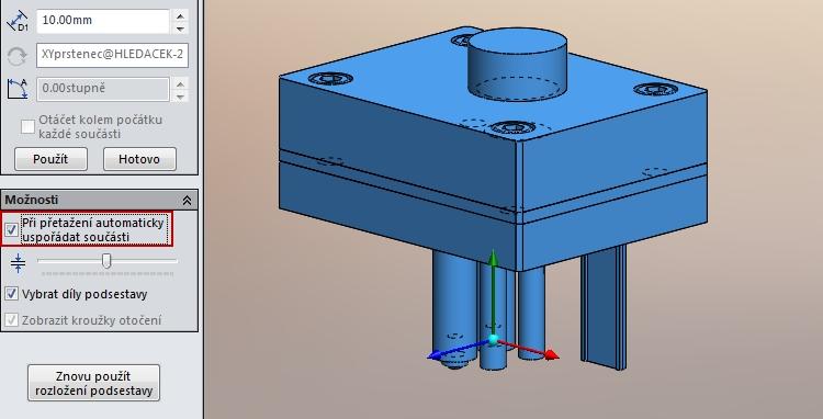2-SolidWorks-rozlozeny-pohled-automaticke-usporadani-inteligentni
